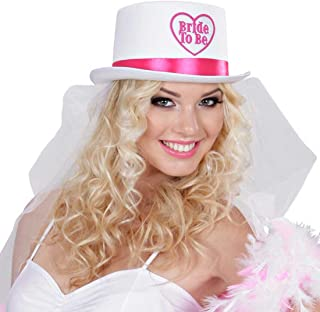 NUOVA Sposa a Essere con piume rosa argento in plastica DIADEMA Hen Do Costume