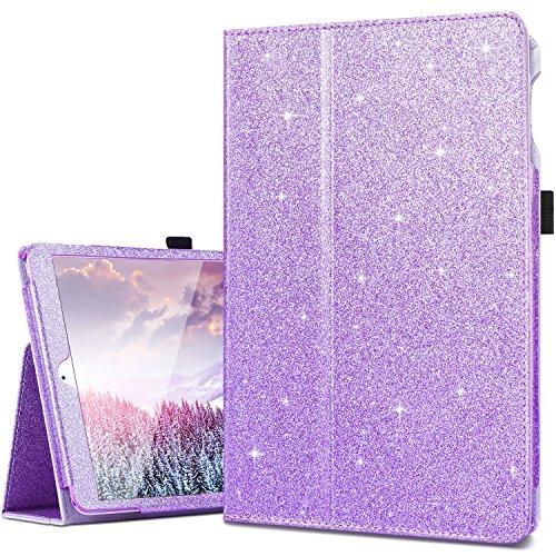 iPad Air Cases,iPad Air 2 Case,iPad 2017/2018 9.7 Case,Fingic Thin Sparky Case Smart Folio Case Cover with Auto Sleep/Wake Function Stand PU Leather Cover Case for iPad 9.7 2017/ipad Air/Air2,Purple
