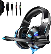 Gaming Headset for PS4, Xbox One Playstation 4 Noise Cancelling Headphones with Cool LED Light(Adapter Not Included)