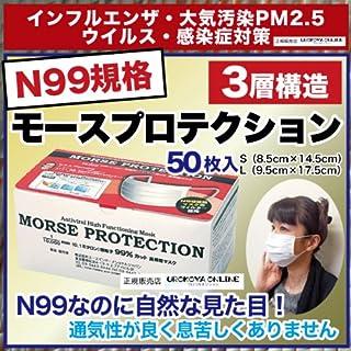 N95の上N99 PM2.5対応マスク サージカルマスク 女性用 使い捨てマスク「モースプロテクション50枚入り」