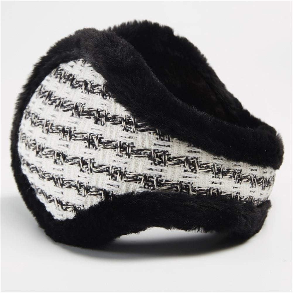 ZYXLN-Earmuffs,Warm Earmuffs Winter Earmuffs for Men and Women Thickened Cold Ear Cover Winter Knitted Earmuffs Color Earmuffs Foldable Ear Muffs (Color : Black)