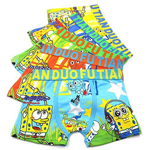 YUMILY 2-8 Years Old Boys Character Boxer Briefs Vibrant Colors Underwear 5 Pack