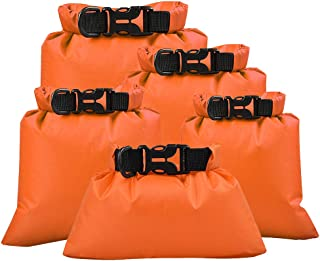 Lixada Waterproof Dry Bags, 3 Pack Ultimate Dry Sack - 3L+5L+8L Lightweight, Roll Top Outdoor Dry Sacks for Kayaking Campi...