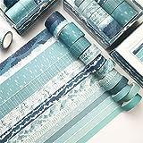 12er Set Washi Tape, Masking Tape Klebebänder Set Dekoratives Klebeband für DIY Scrapbooking (F)