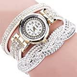 Clearance!!! Women's Wristwatch,Jushye Ladies Girls Watches Bohemian Style Fashion Weave Leather Bracelet Lady Womans Wrist Watch (Q)