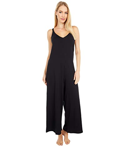 Eberjey Charlie Casual Jumpsuit (Black/Black) Women