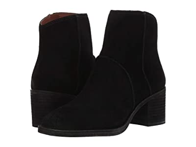 Frye Monroe Seamed Bootie (Black) Women