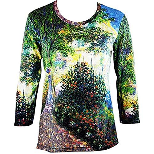 Breeke & Company Monet - Camille Monet in Garden Cotton Micro Blend Top