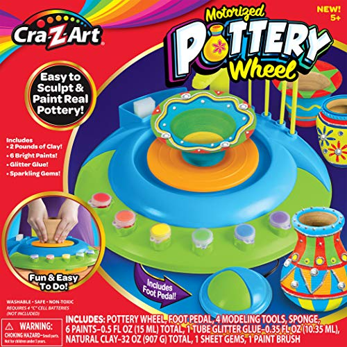 Product Image of the Cra-Z-Art Children's Motorized Pottery Wheel Activity Set