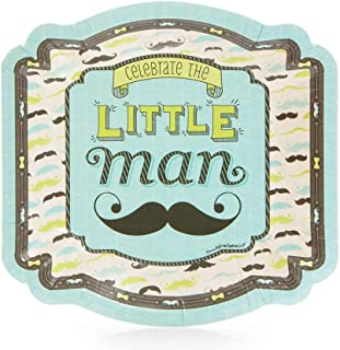 Big Dot of Happiness Dashing Little Man Mustache Party - Dessert Plate (8 Count)
