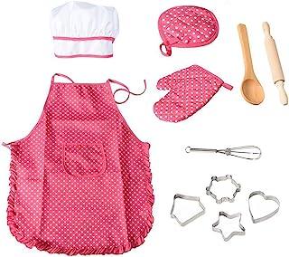 257e4d7d399 OFKPO Set de 11 Piezas de Juguetes de Chef,Juguetes de Delantal de Cocina  para