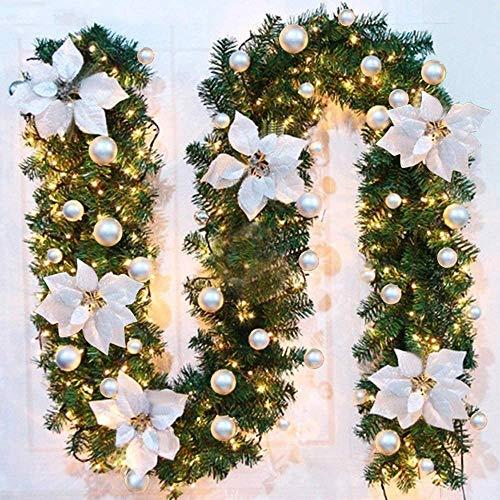 decorazioni natalizie balcone Ghirlanda Natalizia con LED