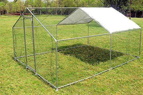 Walnest Large Walk in Chicken Coop Hen House Enclosure Pen Backyard Rabbit Chinchilla Ferret Gerbil Poultry Habitat Supplies Cage w/ Cover(13.1 x 9.8 x 6.56ft)