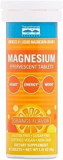 Magnesium Effervescent Tablets for Heart, Energy Mood Orange (10 Tablets)