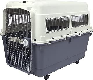 SportPet Designs Plastic Kennels Rolling Plastic Wire Door Travel Dog Crate