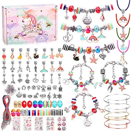 Hazms 136 Pcs Charm Bracelet Making Kit for Girls Teens Jewelry Making Supplies with Bead Snake product image