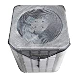 Jinclonder Air Conditioning Cover Outdoor Unit Fan Cover Central Unit Full Mesh Air