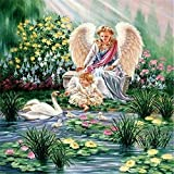 Puzzles for Adults 1000 Piece   Jigsaw Puzzle   Angel and swan Puzzle Puzzle Game - Large Puzzle Game Artwork for Adults Teens 38x26cm