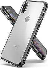 Ringke Fusion Compatible con Funda Apple iPhone XS y Funda iPhone X, PC Duro Back Suave TPU Bumper [Absorción de Impacto] Protectora Resistente a Los Arañazos - Humo Negro (Smoke Black)