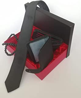 Gift Box Valentine's Day Gıft For Men Wristband Tie Wallet Set