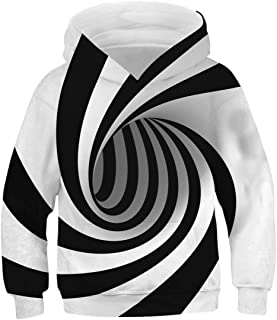Lovekider Boys Girls Hoodies Sweatshirt Cool 3D Print Pullover with Big Pocket for Kids Fashion Warm Winter 6-16 Years