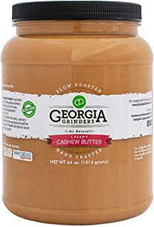 Georgia Grinders Cashew Butter - 64oz / Bulk Size! Get more for less!