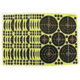 fritz-cell 25 dianas adhesivas tipo 4010 para armas, pistolas, pistolas de aire, airsoft, BB, diábolo, compatible con objetivos Splatterburst