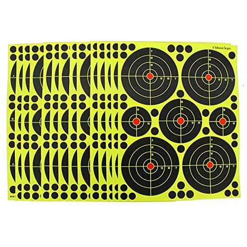 fritz-cell 25 Splitterziele Splittersticker Typ 4010 selbstklebend Zielscheibe für alle Gewehre, Pistolen, Luftgewehre, Airsoft, BB, Diabolo kompatibel mit Splatterburst Zielen