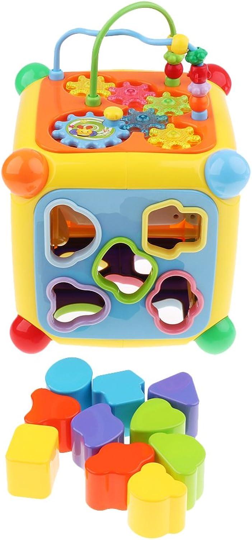 Baoblaze Motorikwürfel, Motorikschleife aus Holz Maze Spielzeug Für Kinder ab 3 Jahren - Mehrfarbig B07DR65SHN  Clever und praktisch | Großer Räumungsverkauf