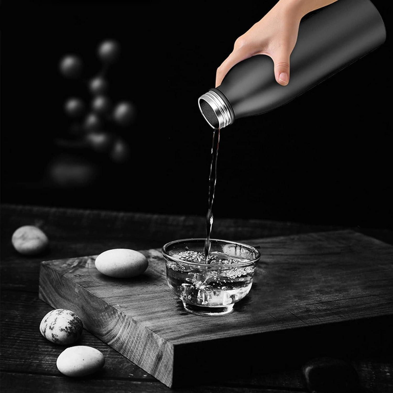 Taza de vacío, botella de agua de ABS de grado alimenticio multiusos con auricular TWS Blutooth para escuchar música para estar en forma para beber agua(black, Pisa Leaning Tower Type)