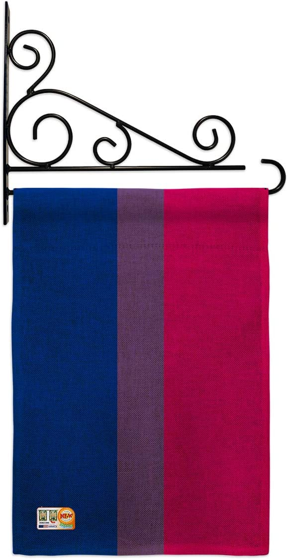 Pride Bisexual Garden Flag Set 2020 新作 Love 購入 Holder Support Rainbow Wall