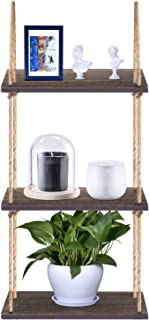 Yankario Rustic Wall Hanging Floating Shelf, 3 Tier Decorative Shelving Unit for Storage and Décor in Living Room, Bathroom, Kitchen, Dorm Room and More