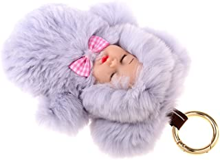 FITYLE Faux Fur Mini Baby Doll Kids Toys Birthday Gift Bag Pendant Keychain