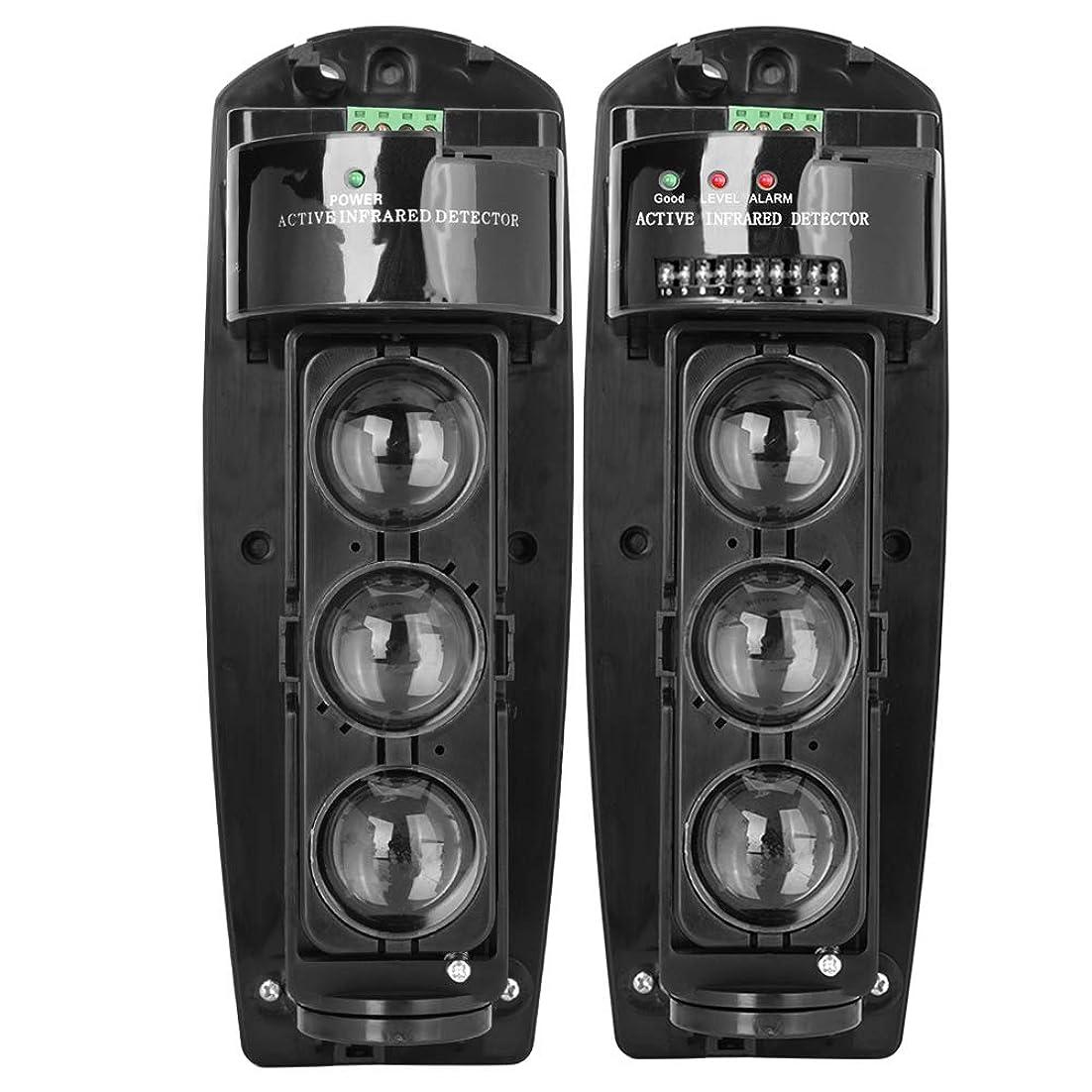 誘惑するディスコバインド光電赤外線導探知器 セキュリティシステム モーション探知器 ホームセキュリティー警報赤外線探知器 センサー 防水三重のビーム警報(4^)