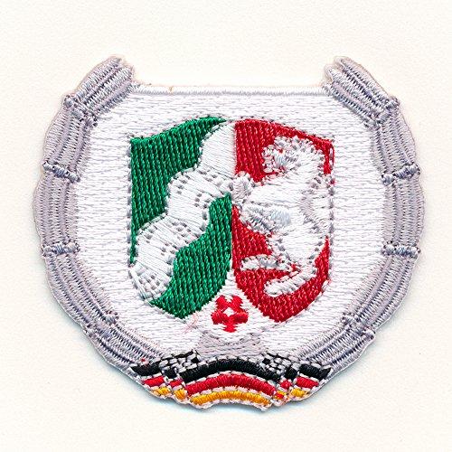 NRW Wappen Düsseldorf Deutschland Flagge BRD Patch Aufnäher Aufbügler 0631