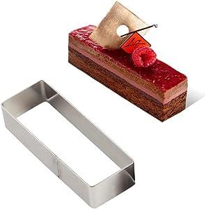 Cake Mold Kitchen Flexible DIY Rectangular Donut Mousse Candy Chocolate Dessert Stainless Steel Decor Baking Tools Handmade(S)