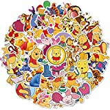 Winnie The Pooh Stickers 50Pcs Cute Stickers, Laptop Stickers, Vinyl Stickers,Water Bottle Stickers for Skateboard,Computer,Phone,Guitar,Animal Stickers for Adults Kids Students Women Teachers