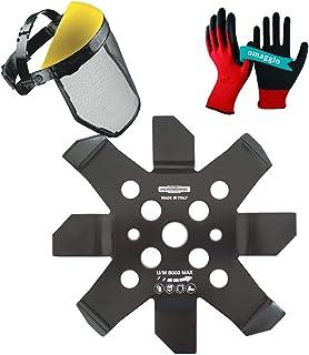 Hurricane - Disco para desbrozadora - Juego completo con disco de corte completo + visera de red protectora ajustable + guantes antiperforación de regalo (juego de molinillas)