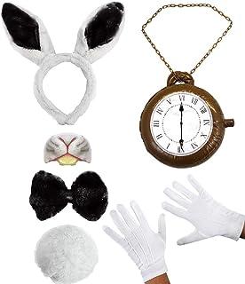 """GRANDE orologio da taschino Bianconiglio Fancy Dress 8/"""" Alice nel paese delle meraviglie orologio giocattolo"""