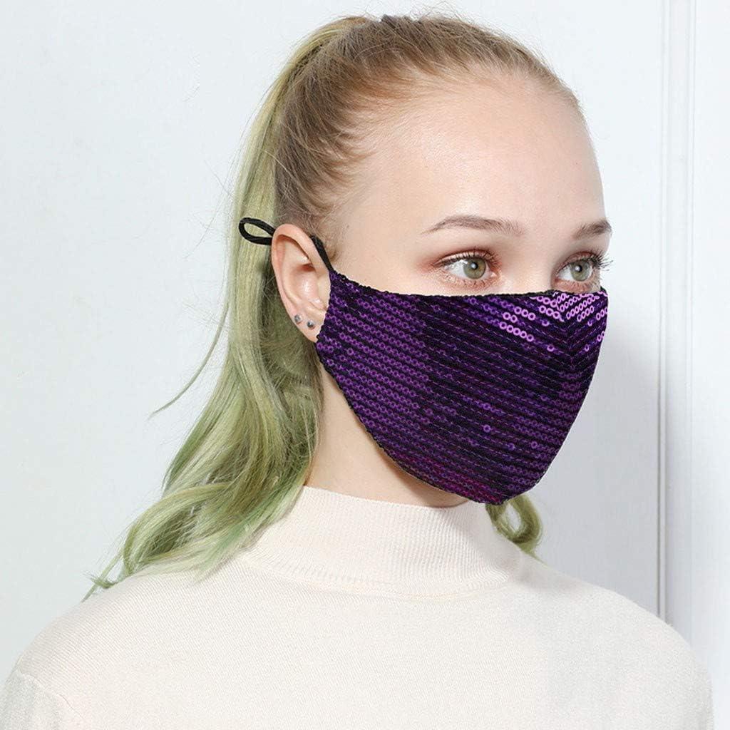 2PC Sequins Face unisex Bandanas Reusable Reus for Adults Fashion Women Many popular brands