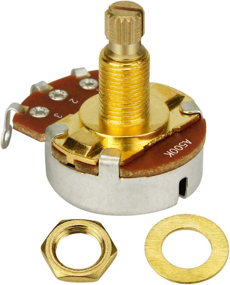 Potenciómetro A500K de control de volumen para guitarra eléctrica bajo y guitarra eléctrica