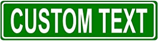 Granite City Graphics Custom Green 6x24 Aluminum Road Sign with Lettering On One Side