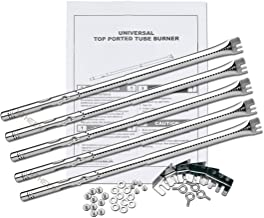 Utheer Adjustable Grill Burner Tube 14.09 up to 20.39 Inch for Charbroil Advantage 463344015, 463240015, 463344116, Performance 475, 463376018P2; Commercial Series TRU Infrared Carryover Tube, 5 Pack