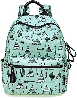 MYXMY Small Fresh School Bag Female Student Korean Version of The School Junior high School Student Simple Canvas high School Student Backpack Sen Backpack (Color : A)
