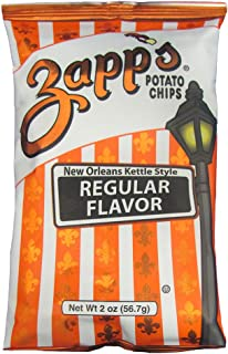 Zapp's New Orleans Kettle-Style Potato Chips, Regular – Crunchy Chips with a Salty, Delicious Flavor, Great for Lunches or Snacking on the Go, 2 oz. Bag (Pack of 25)