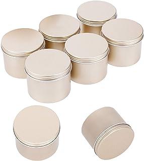 PandaHall 16pcs 3.3 oz (100 ML) Couvercle à vis Boîtes de Conserve Rondes en Aluminium Conteneurs de Stockage pour Bougies...