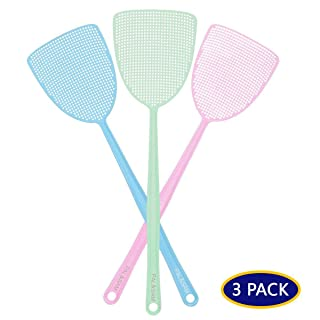 PAL&SAM Fly Swatter, Strong Flexible Manual Swat Set Pest Control, Assorted Colors (3 Pack) (3 Colors)