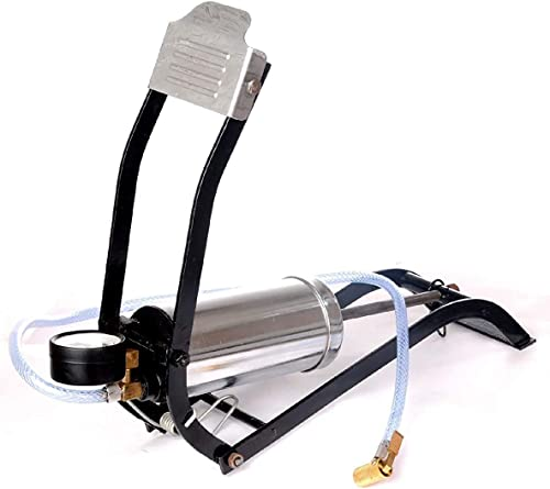 STEEZE® Air Foot Pump Steel Chrome Plated Body Use for Car or Motorbike or Bicycle Tyre Air Filling
