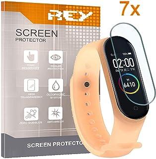 REY 7X Protector de Pantalla para XIAOMI MI Smart Band 4