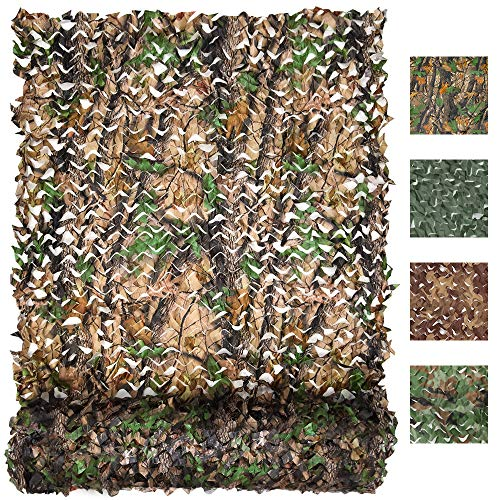 FLYEGO Military Camo Netting, Camouflage Tarp Mesh Net, Lightweight Waterproof for Sunshade,Canopy,Party Decoration,Hunting Blind and Car Vehicle Cover